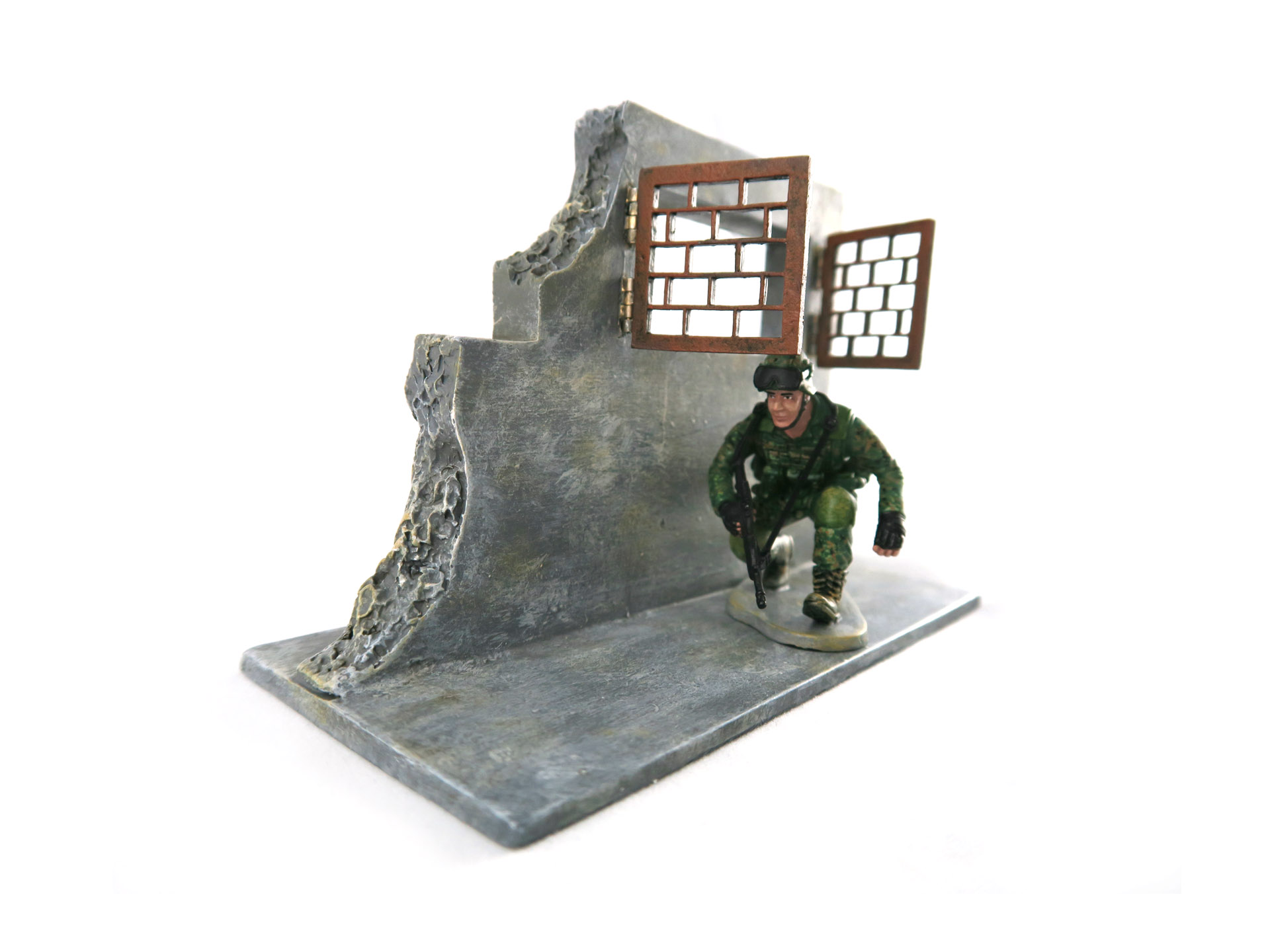SAF Standard Obstacle Course SOC Corridor Obstacle Toy Soldier Collectible Figurine (Cover)