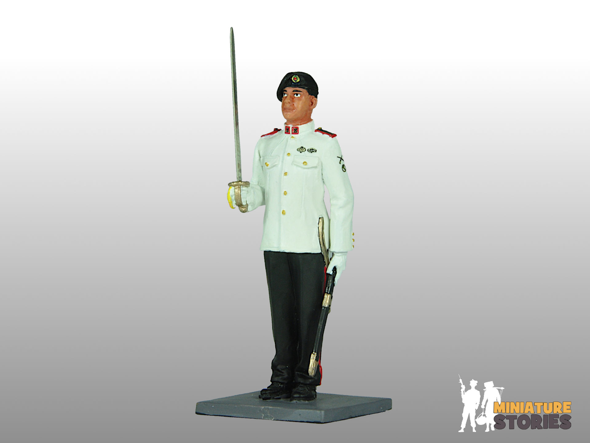 Miniature Stories Armour Officer Figurine in No. 1 Ceremonial Dress