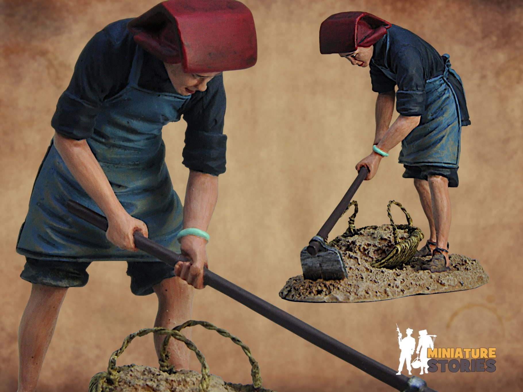 Miniature Stories Samsui Woman Clearing Soil Cover
