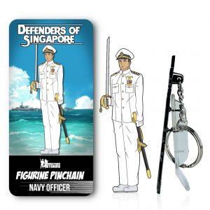 Singapore Navy Officer Figurine PinChain