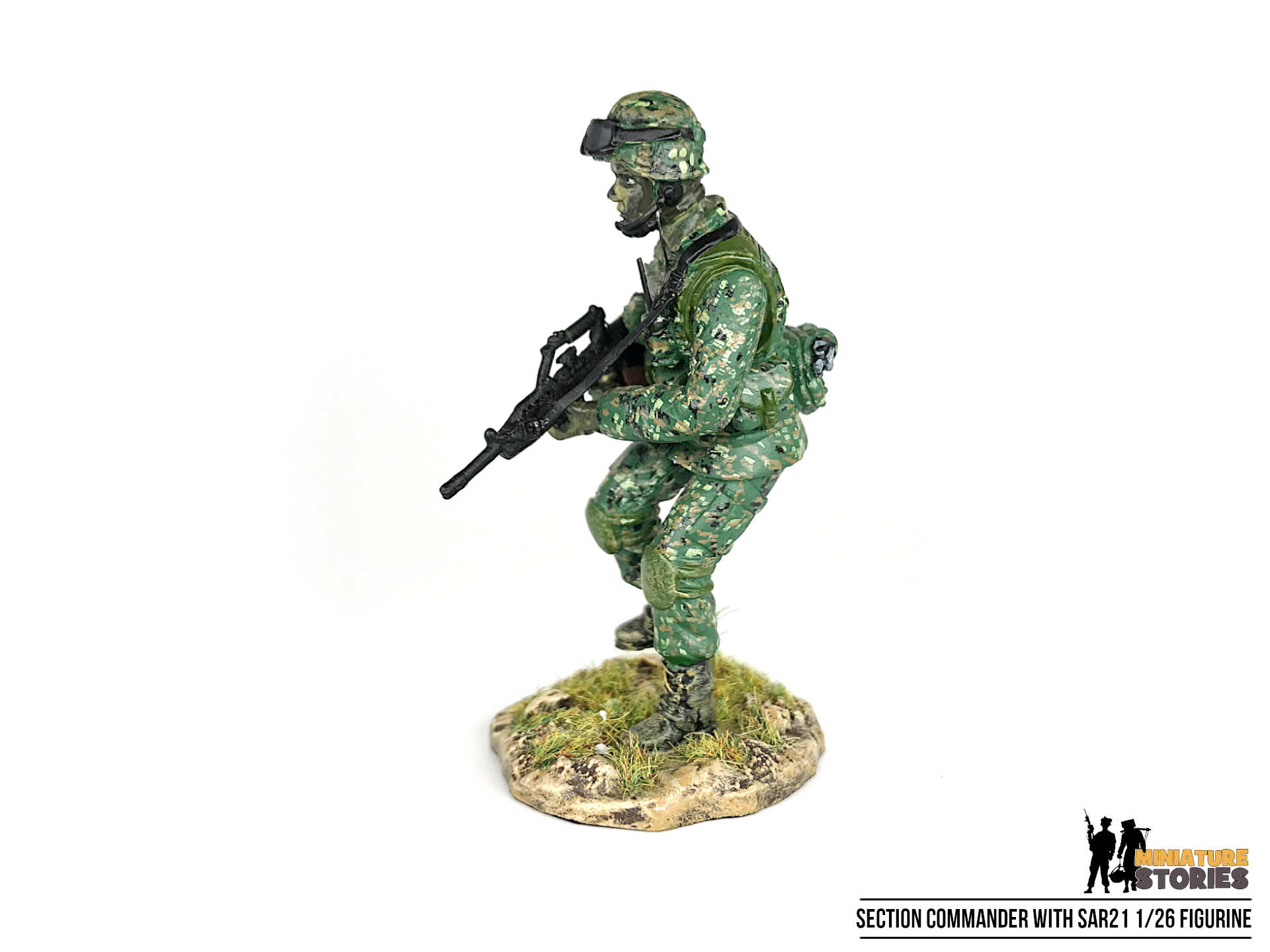 Singapore Army Section Commander Soldier Figurine (left)