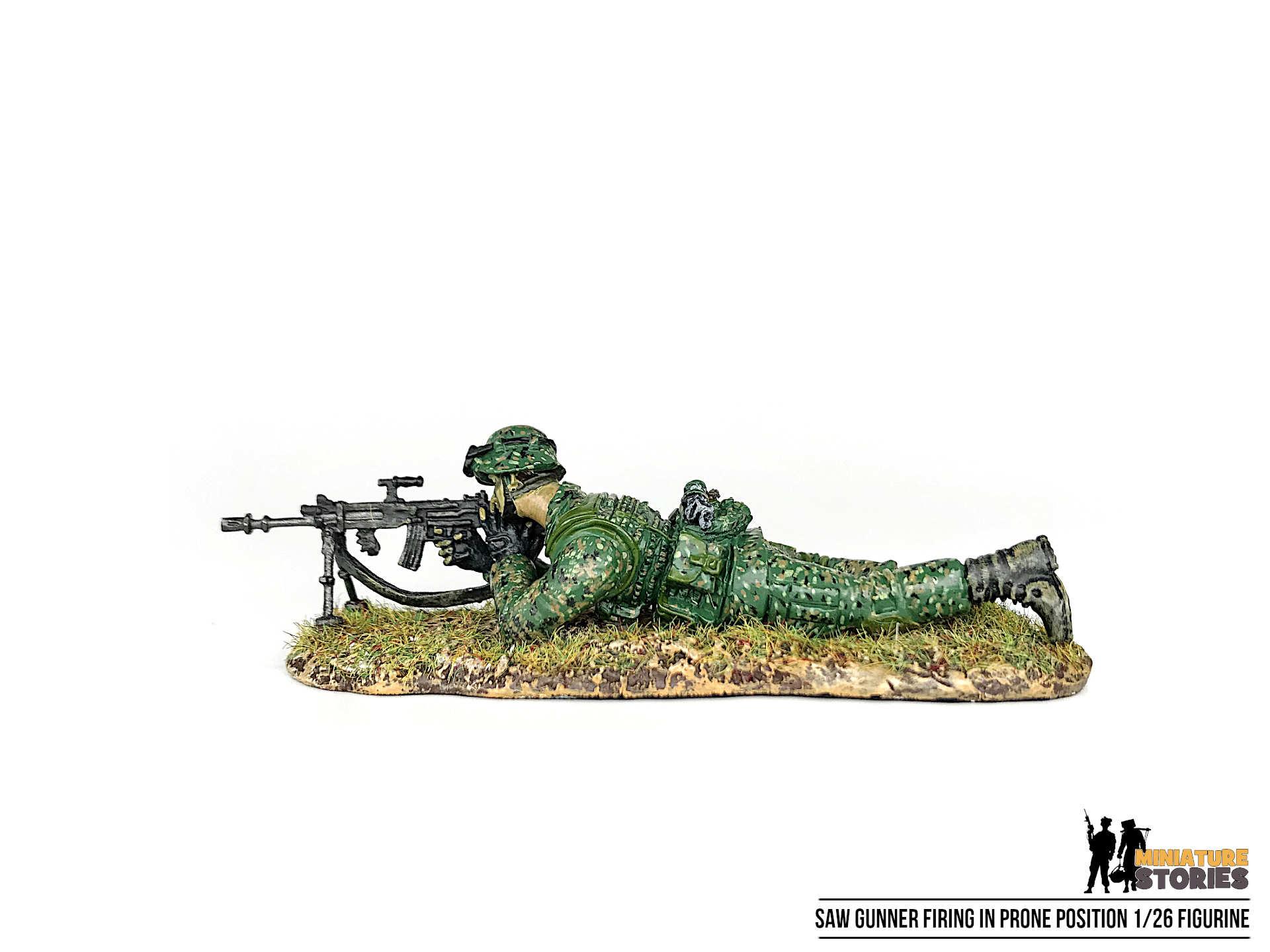 Singapore Army Soldier SAW Gunner Figurine (left)