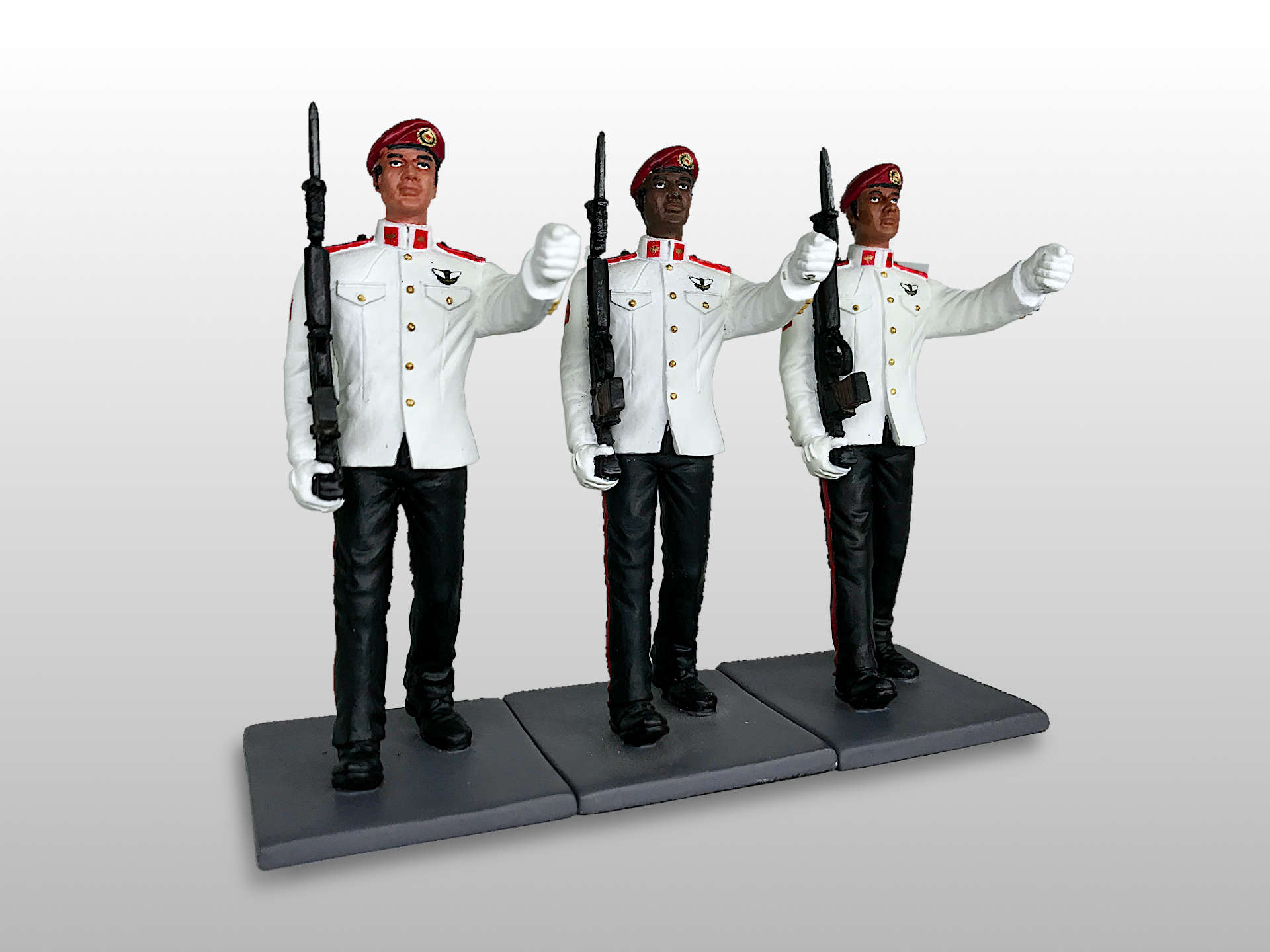 Singapore Army Commando Marching Soldier on Parade (cover)