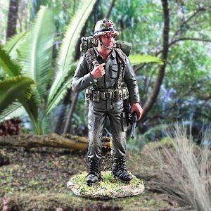 Miniature First Generation 1G Singapore Army Soldier Figurine in Temasek Green